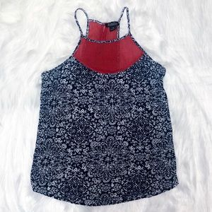 Lucky Brand red blue tank top size med patriotic